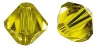 Swarovski Kristall-Schliffperlen 8mm 11St goldgelb