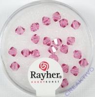 Swarovski Kristall-Schliffperlen 4mm 25St rosa chiffon (Restbestand)