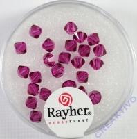 Swarovski Kristall-Schliffperlen 4mm 25St fuchsia (Restbestand)