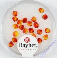 Swarovski Kristall-Schliffperlen 4mm 25St feuerrot (Restbestand)