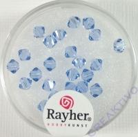 Swarovski Kristall-Schliffperlen 4mm 25St azurblau (Restbestand)