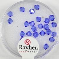 Swarovski Kristall-Schliffperlen 4mm 25St royalblau (Restbestand)