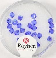Swarovski Kristall-Schliffperlen 4mm 25St ultrablau (Restbestand)