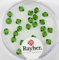 Swarovski Kristall-Schliffperlen 4mm 25St dunkelgrün (Restbestand)