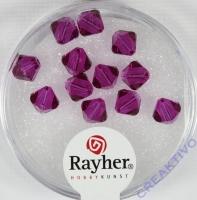 Swarovski Kristall-Schliffperlen 6mm 12St fuchsia (Restbestand)