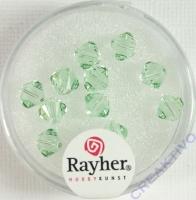 Swarovski Kristall-Schliffperlen 6mm 12St lindgrün (Restbestand)