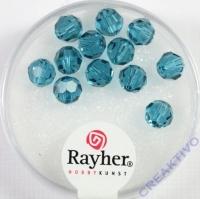 Swarovski Kristall-Perlen 6mm 12St ind.türkis