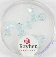 Swarovski Kristall-Perlen 6mm 12St eisblau
