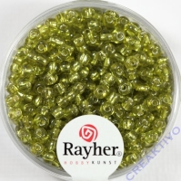 Rocailles 2,6mm ø mit Silbereinzug hellgrün